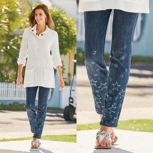 Soft Surroundings Stars Straight Jeans Size 10 NWT